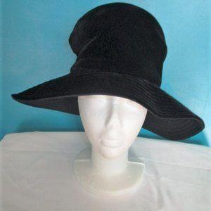 Vintage Black Velvet ~ Mr. John Classic Floppy Hat